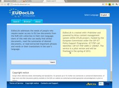 EUDocLib welcome page