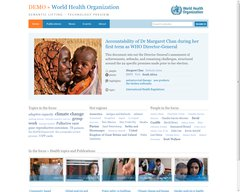 Demo service for the World Health Organisation